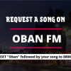 Request a song on Oban FM by texting 88008